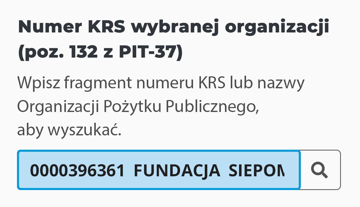 Instrukcja wpisywania numeru KRS